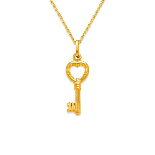 166-031 Heart Key Charm Pendant