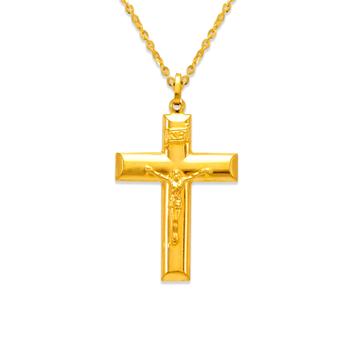 166-058 35mm Jesus Cross Charm Pendant