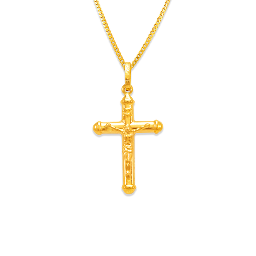 166-087 23mm Jesus Cross Charm Pendant
