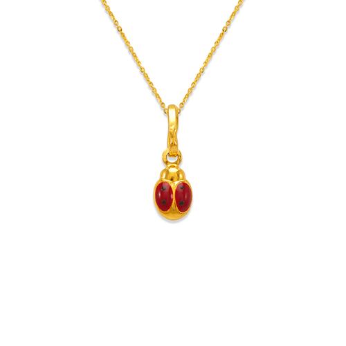 166-307 Ladybug Enamel Charm Pendant