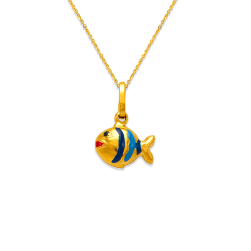 166-310 Fish Enamel Charm Pendant