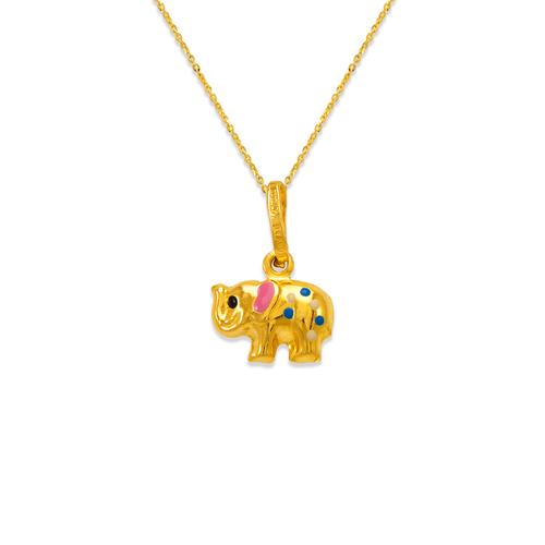 166-314 Elephant Enamel Charm Pendant