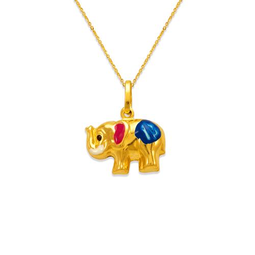 166-315 Elephant Enamel Charm Pendant