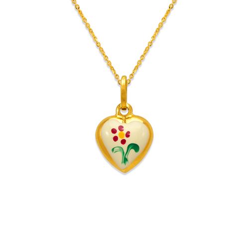 166-317 12mm Heart Enamel Charm Pendant