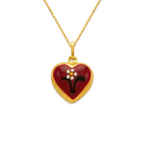 166-318 16mm Heart Enamel Charm Pendant
