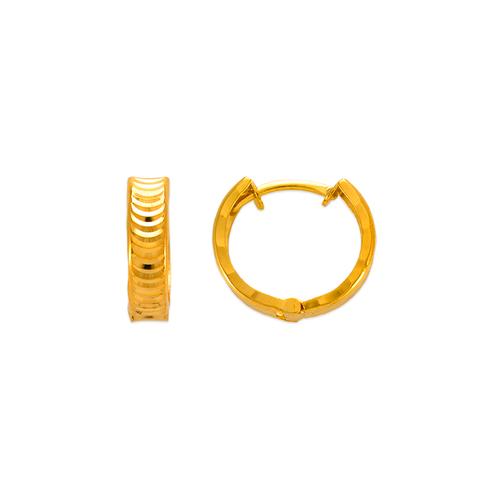 142-003 11mm Diamond Cut Huggie Earrings