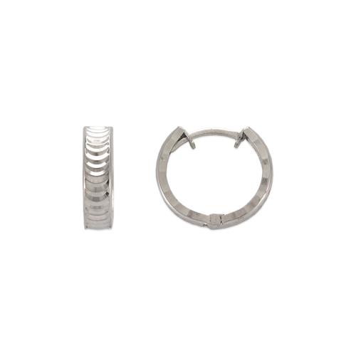 142-003W 11mm Diamond Cut Huggie Earrings