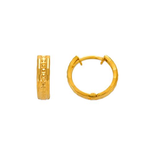 142-004 11mm Diamond Cut Huggie Earrings