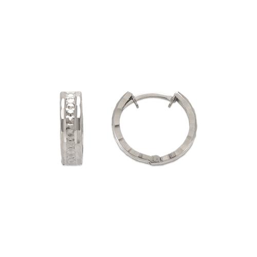 142-004W 11mm Diamond Cut Huggie Earrings