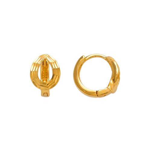 142-005 11mm Diamond Cut Huggie Earrings