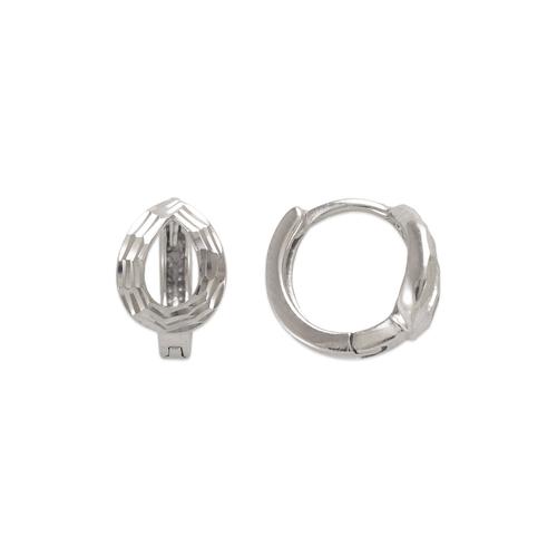 142-005W 11mm Diamond Cut Huggie Earrings