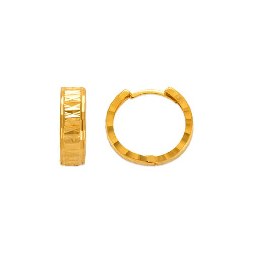 142-006 13mm Diamond Cut Huggie Earrings