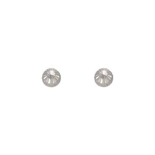 343-011W 3mm Diamond Cut Stud Earrings