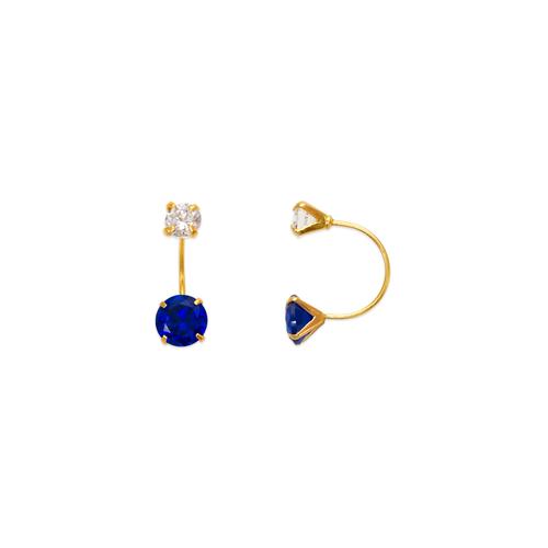 343-602BL Blue Telephone CZ Stud Earrings