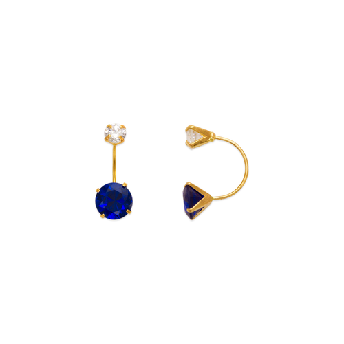 343-603BL Blue Telephone CZ Stud Earrings