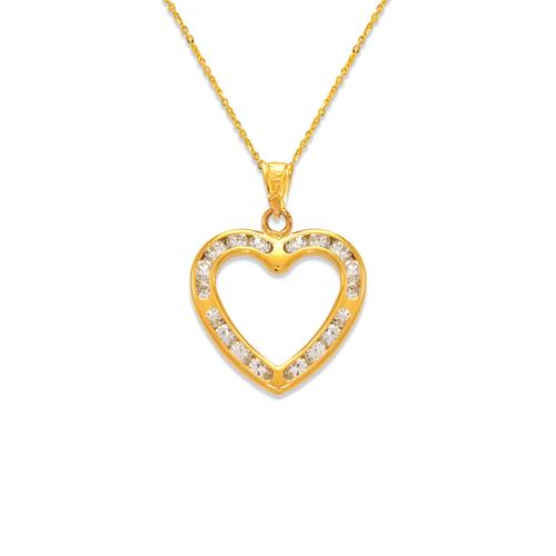 367-551 Heart CZ Pendant