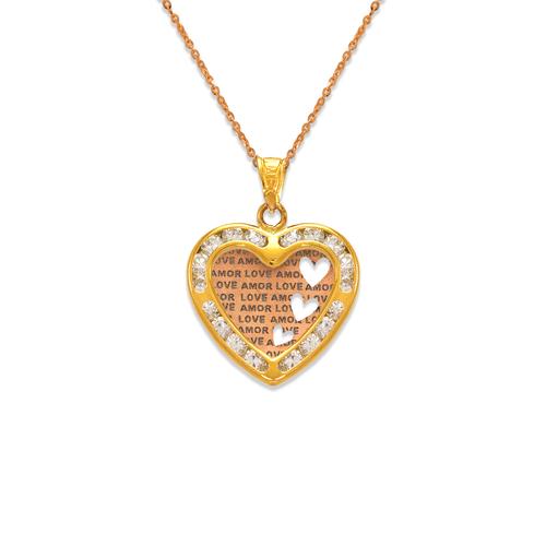 367-552T Amor Love CZ Pendant