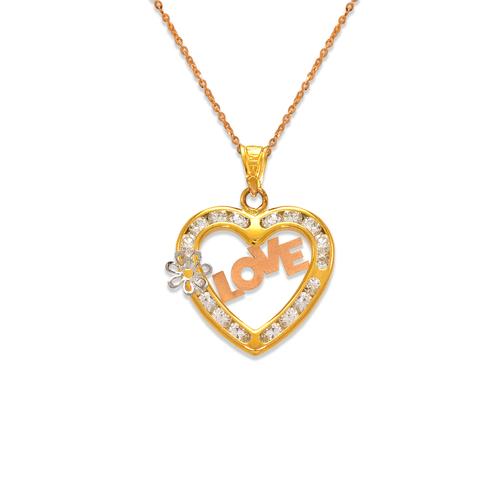 367-554T Love Heart CZ Pendant