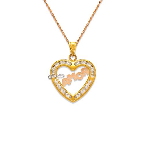 367-555T Amor Heart CZ Pendant