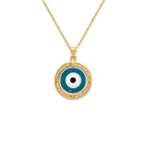 367-571 Mini Evil Eye Enamel CZ Pendant