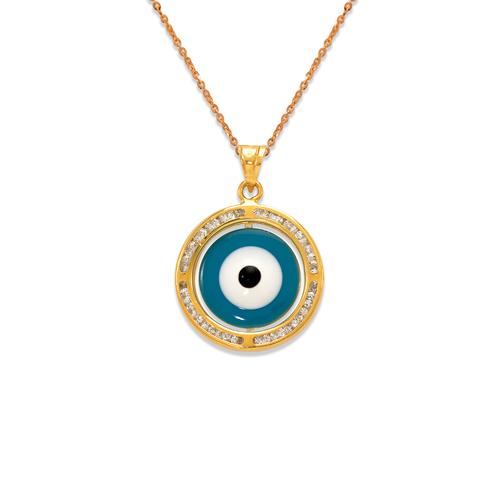 367-572 Small Evil Eye Enamel CZ Pendant