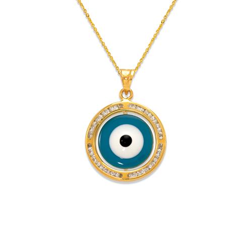 367-573 Medium Evil Eye Enamel CZ Pendant