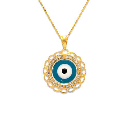 367-574 Evil Eye Enamel CZ Pendant