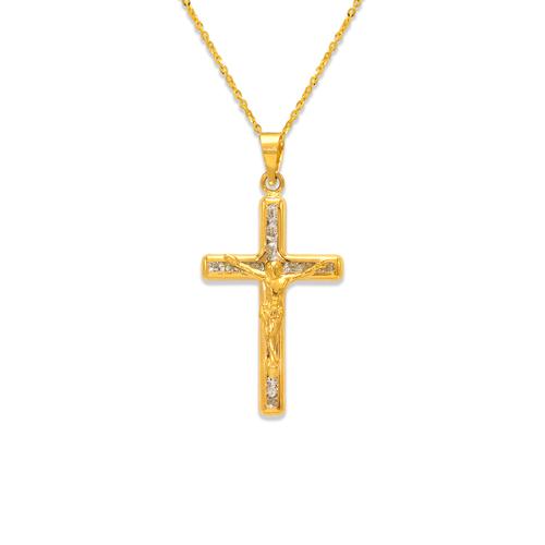 367-601 Jesus Cross CZ Pendant