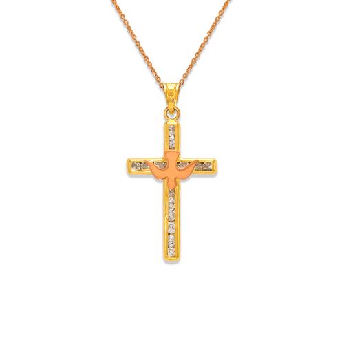 367-603T Communion Cross CZ Pendant