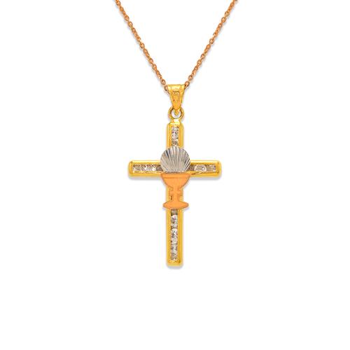 367-604T Communion Cup Cross CZ Pendant