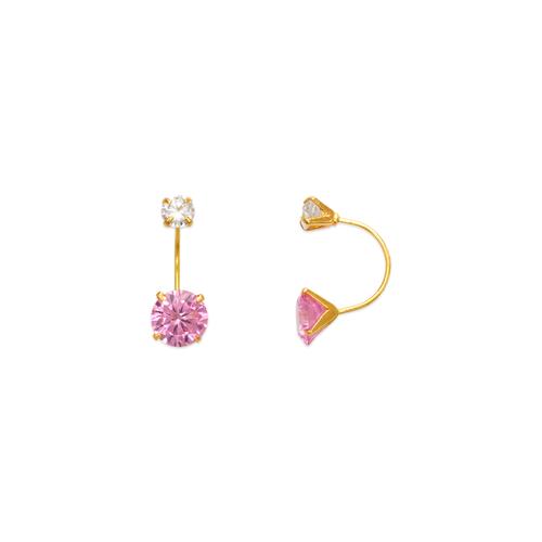 343-603PK Pink Telephone CZ Stud Earrings