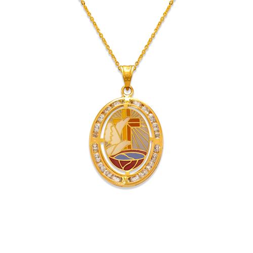 367-725 Communion Enamel CZ Pendant