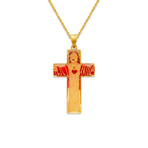 367-743 Jesus Cross Enamel Pendant