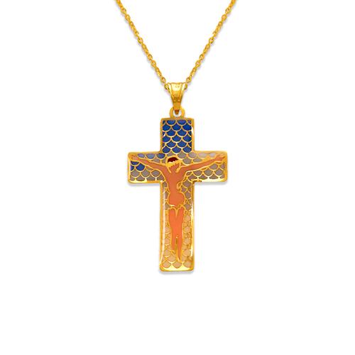 367-744 Jesus Cross Enamel Pendant