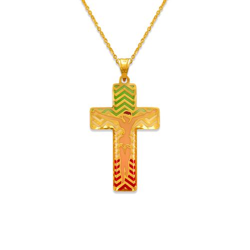 367-745 Jesus Cross Enamel Pendant