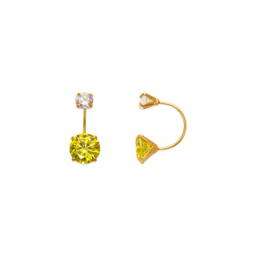 343-603YE Yellow Telephone CZ Stud Earrings