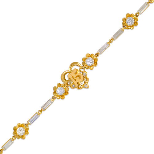 423-102 Ladies Fancy 15 Anos Heart CZ Bracelet