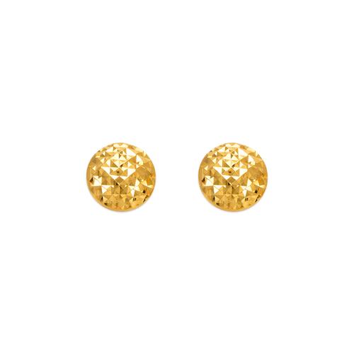 142-102 Diamond Cut Curved Ball Stud Earrings