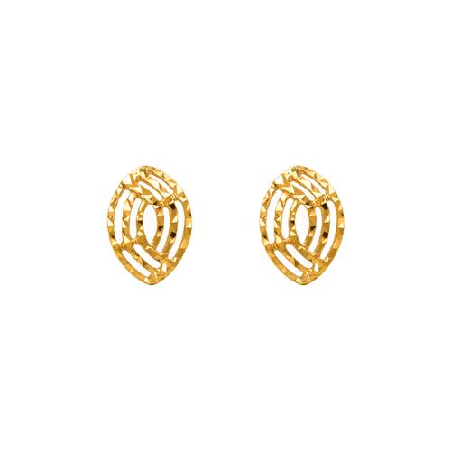 142-104 Diamond Cut Oval Stud Earrings