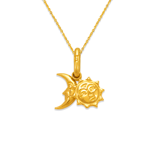 166-035 Sun and Moon Charm Pendant