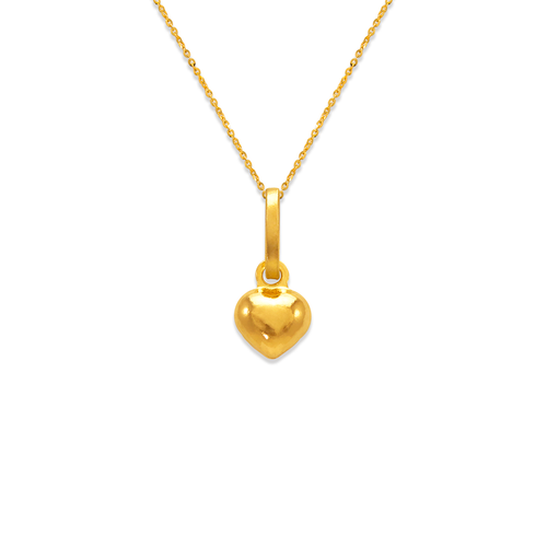 166-072 6mm Heart Charm Pendant
