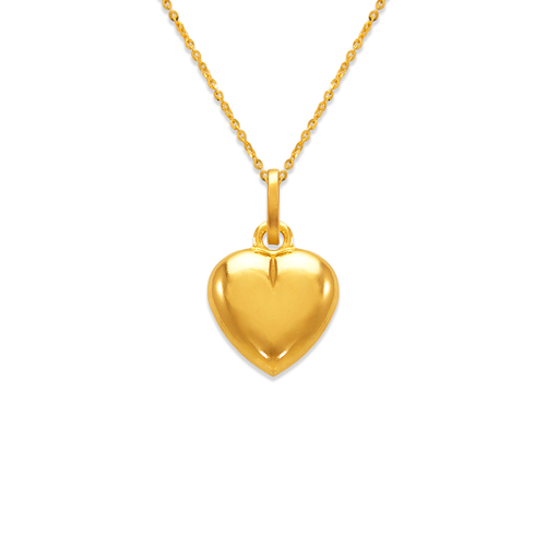 166-074 12mm Heart Charm Pendant