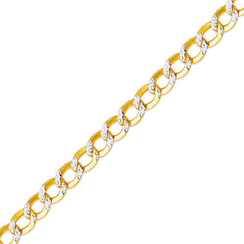 136-101ZS Hollow Curb White Pave Chain
