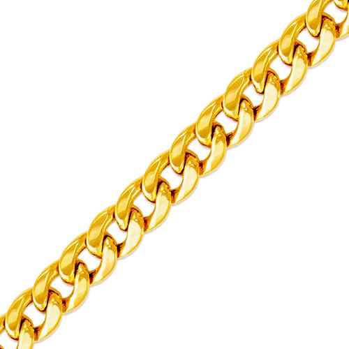 136-105S Hollow Miami Curb Chain