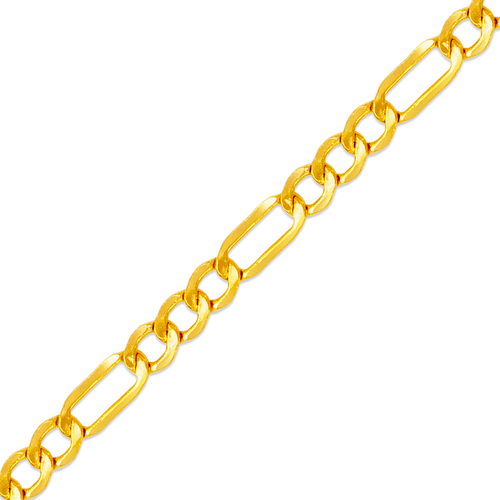 136-201S Hollow Figaro Chain