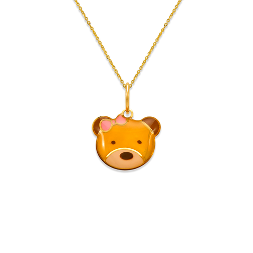 367-904 Teddy Bear Enamel Pendant