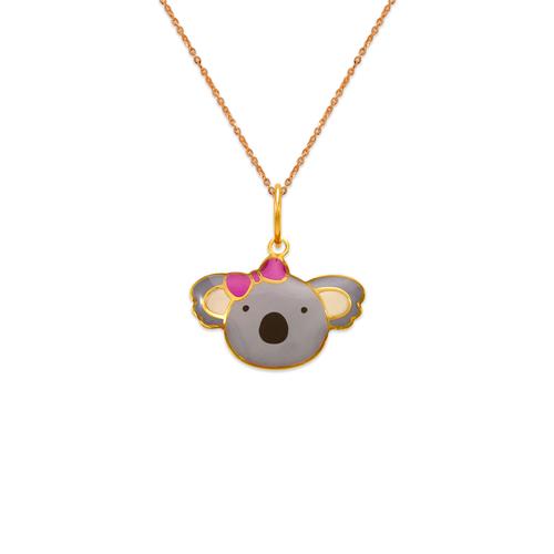 367-905 Koala Bear Enamel Pendant