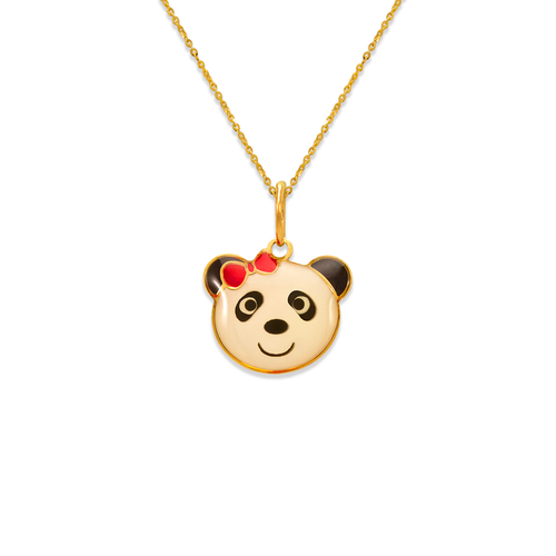 367-906 Panda Bear Enamel Pendant