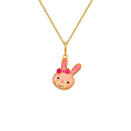 367-908 Bunny Enamel Pendant