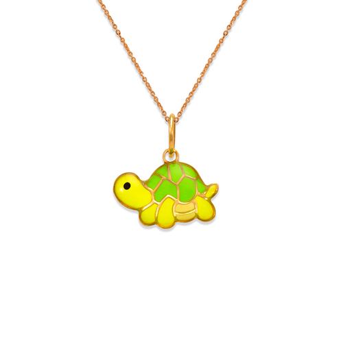 367-909 Turtle Enamel Pendant
